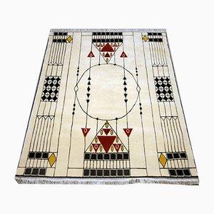 Handgeknüpfter nepalesischer Teppich von Otto Prutcher für Wiener Werkstätte