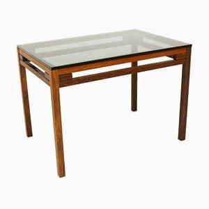 Swedish Smoked Glass Side Table, 1960s