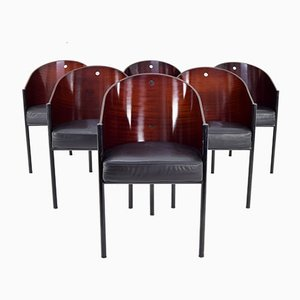 Vintage Italian Costes Chairs by Philippe Starck for Driade Aleph, 1980s, Set of 6