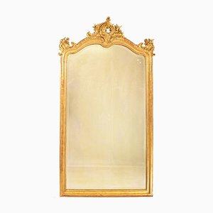 Specchio antico con cornice dorata