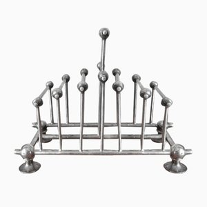 19th Century Silver Plated Toast Rack by Dr. Christopher Dresser