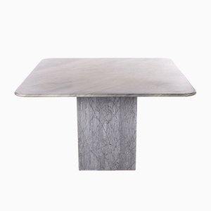 Gray Marble Dining Table, 1980s