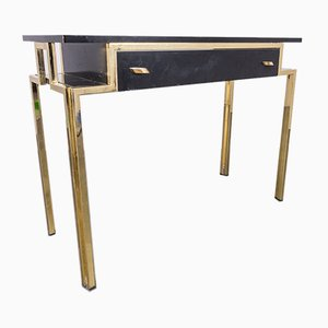 Vintage Wood & Metal Console Table, 1970s