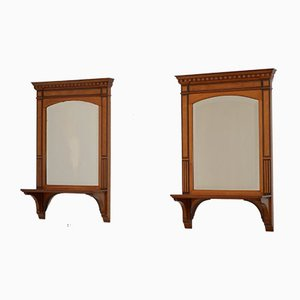 Victorian Satinwood Wall Mirrors, Set of 2