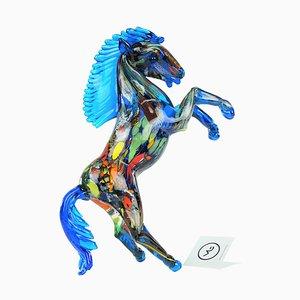 Escultura de caballo con fantasía de cristal de Murano, 2021