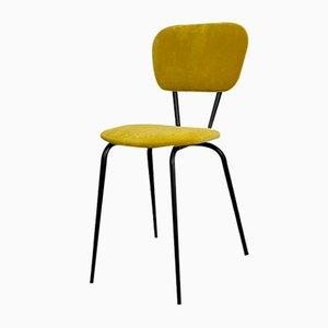 Spanish Mustard Velvet & Metal Chair, 1970s
