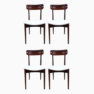 Palisander Esszimmerstühle, 1960er, 4er Set