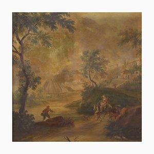 Große Landschaft mit Figuren, 20. Jahrhundert