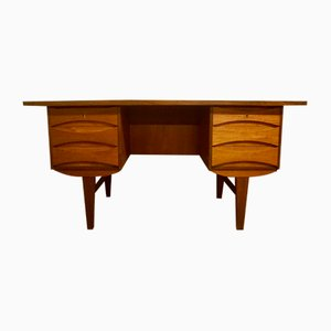 Freestanding Teak Desk by Arne Vodder 1950's.
