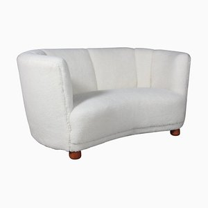 Danish Lambswool 2-Seater Sofa, 1940s