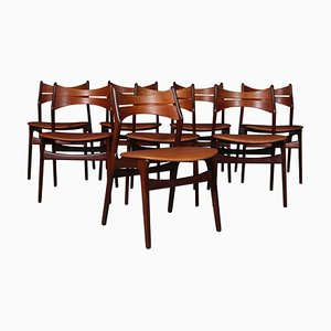 Dining Chairs by Erik Buch, Set of 8