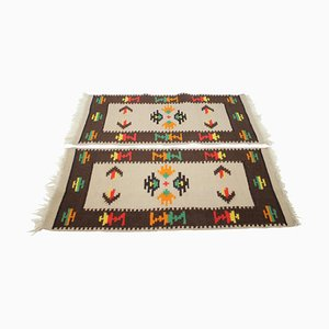Mid-Century Kilim Teppiche aus Wolle, 1960er, 2er Set