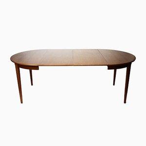 Danish Teak Round Extending Dining Table from Skovmand & Andersen, 1960s
