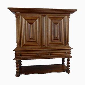 Antique Flemish Cabinet with Walnut Columns