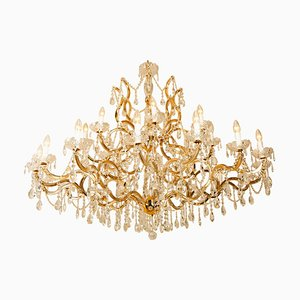 Large Maria Theresa Gold Plated Swarovski Chandelier