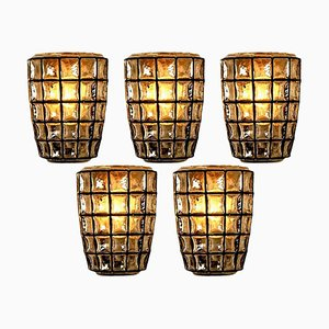Iron and Bubble Glass Sconce from Limburg, 1960s
