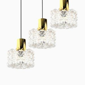 Bubble Glass Pendant Lamp by Helena Tynell for Limburg, 1960s