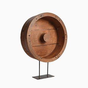 Wooden Wheel Sculpture