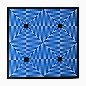 Tribute to Vasarely 6 Blue, 1972