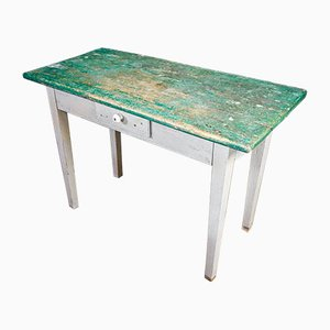 White Table with Green Leaf, France, 1920s