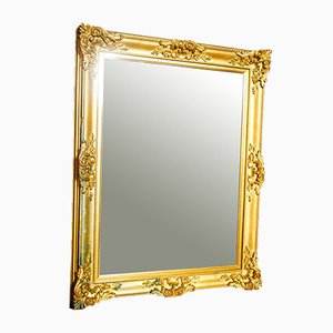 Antique Mirror with Gold Trim, 1880s