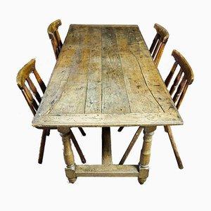 Antique Oak Convent Table, France