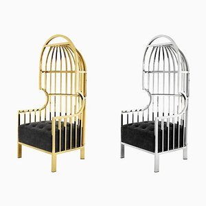Gold & Silber 1 Cage Sessel