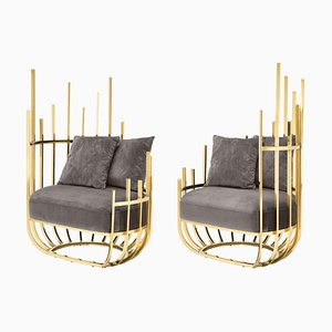 Gold & Silver 2 Cage Armchair
