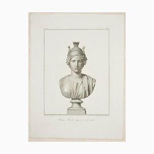 Alessandro Mochetti, Roma, Busto quasi colossale, Original Etching, 1821