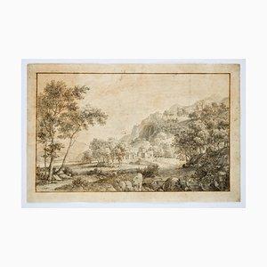 Landscape, Original Etching, 18th Century