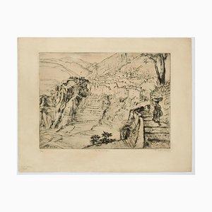 Goldener Friedi Boille, Landscape, Originale Radierung, 1935