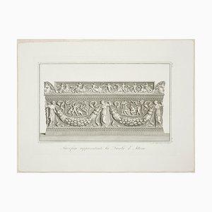 Giovanni Battista Leonetti, Sarkophag, der die Geschichte von Actaeon, 1821 darstellt
