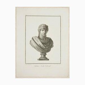 Giovanni Folo, Antinoo, Testa Colossale, Originale Radierung, 1821