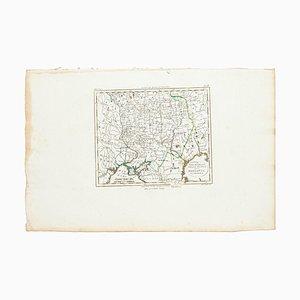 Marco Di Pietro, Karte von Russland, Original Radierung, 19. Jahrhundert