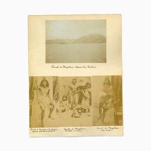 Inconnu, Vues Antiques du Détroit de Magellan, Photo Originale Vintage, 1880s