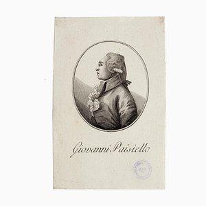 Portrait of Man, Original Etching, 18th Century