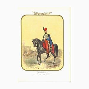 Antonio Zezon, Husaren der königlichen Garde, Original Lithographie, 1852