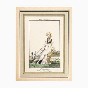 Louis-Philibert Debucourt, L'Agression, Original Etching, 1800