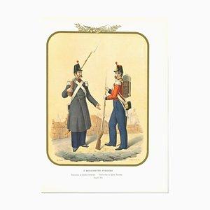 Antonio Zezon, II Swiss Regiment, Original Lithograph, 1854