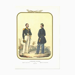 Antonio Zezon, VI Hunter Battalion, Original Lithograph, 1853