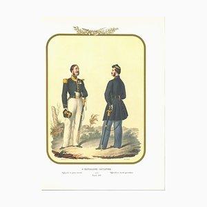 Antonio Zezon, VI Hunter Battalion, Originale Lithographie, 1853