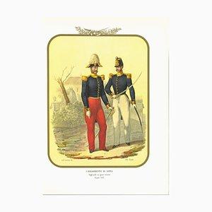 Antonio Zezon, III Line Regiment, Original Lithograph, 1853