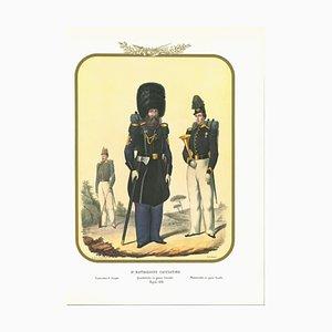 Antonio Zezon, VIII Hunter Battalion, Original Lithograph, 1853