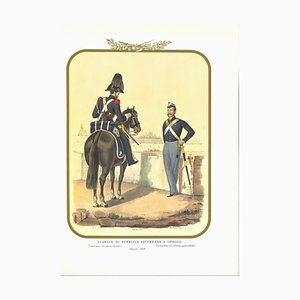 Antonio Zezon, Horse Public Security Guard, Original Lithograph, 1852