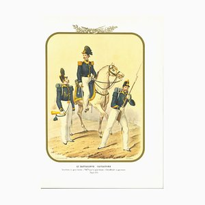 Antonio Zezon, XIII Hunter Battalion, Original Lithograph, 1854