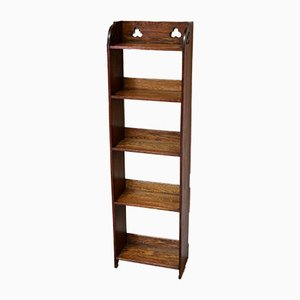 Small Arts and Crafts Oak Open Bookcase