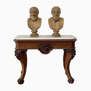Table Console Antique en Marbre