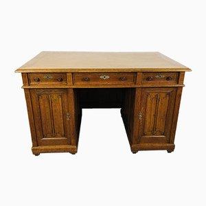 Antiker Eichenholz Büro Schreibtisch