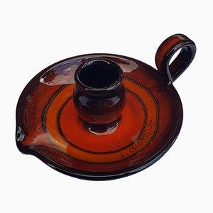 Italian Ceramic Candleholder by Cellarosi