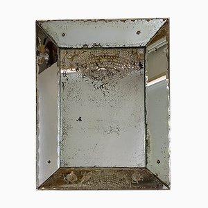 Antiker Silberglas Spiegel, 19. Jahrhundert